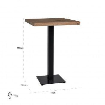 Table bistrot Gastronomy 70x70, un pied square Meuble Déco Tendance - 174