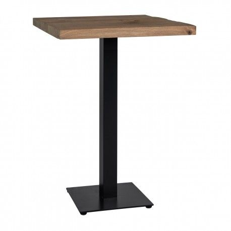 Table bistrot Gastronomy 80x80, un pied square