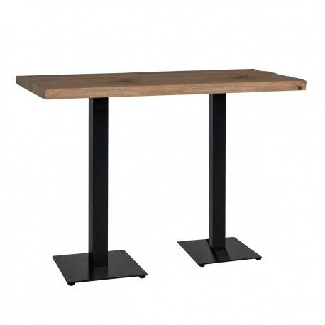 Table bistrot Gastronomy 120x80, deux pieds square