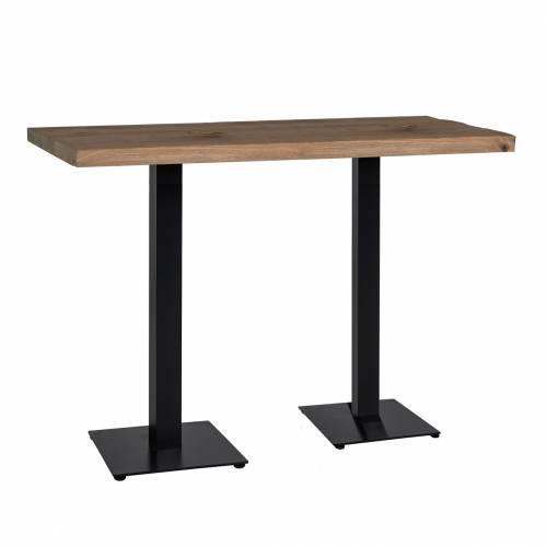 Table bistrot Gastronomy 120x80, deux pieds square Meuble Déco Tendance - 65