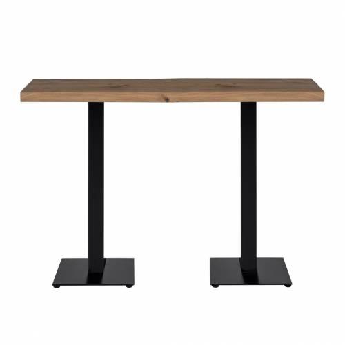 Table bistrot Gastronomy 120x80, deux pieds square Meuble Déco Tendance - 100