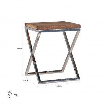 Table d'angle Kensington 45x45 Meuble Déco Tendance - 266