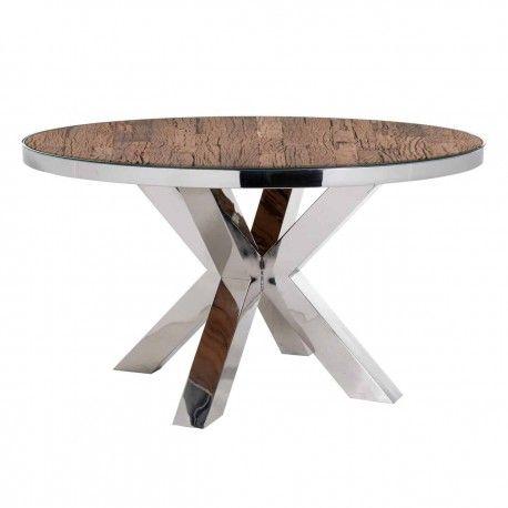 Table à dîner Kensington round 140Ø incl. verre