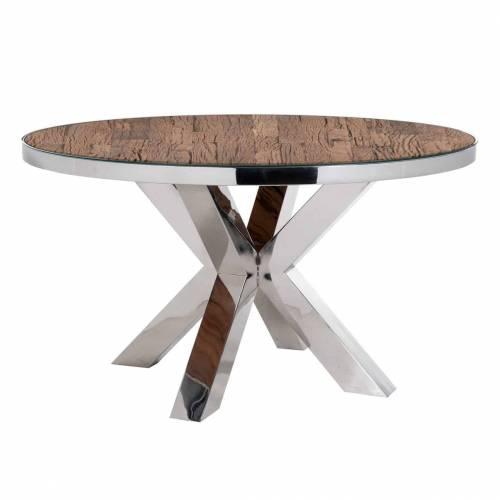 Table à dîner Kensington round 140Ø incl. verre Meuble Déco Tendance - 1
