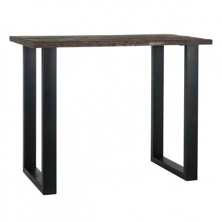 Table de bar Raffles 140x80, bois recyclé