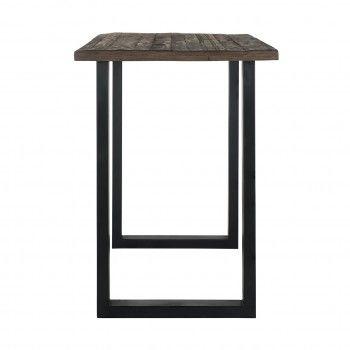 Table de bar Raffles 140x80, bois recyclé Meuble Déco Tendance - 90