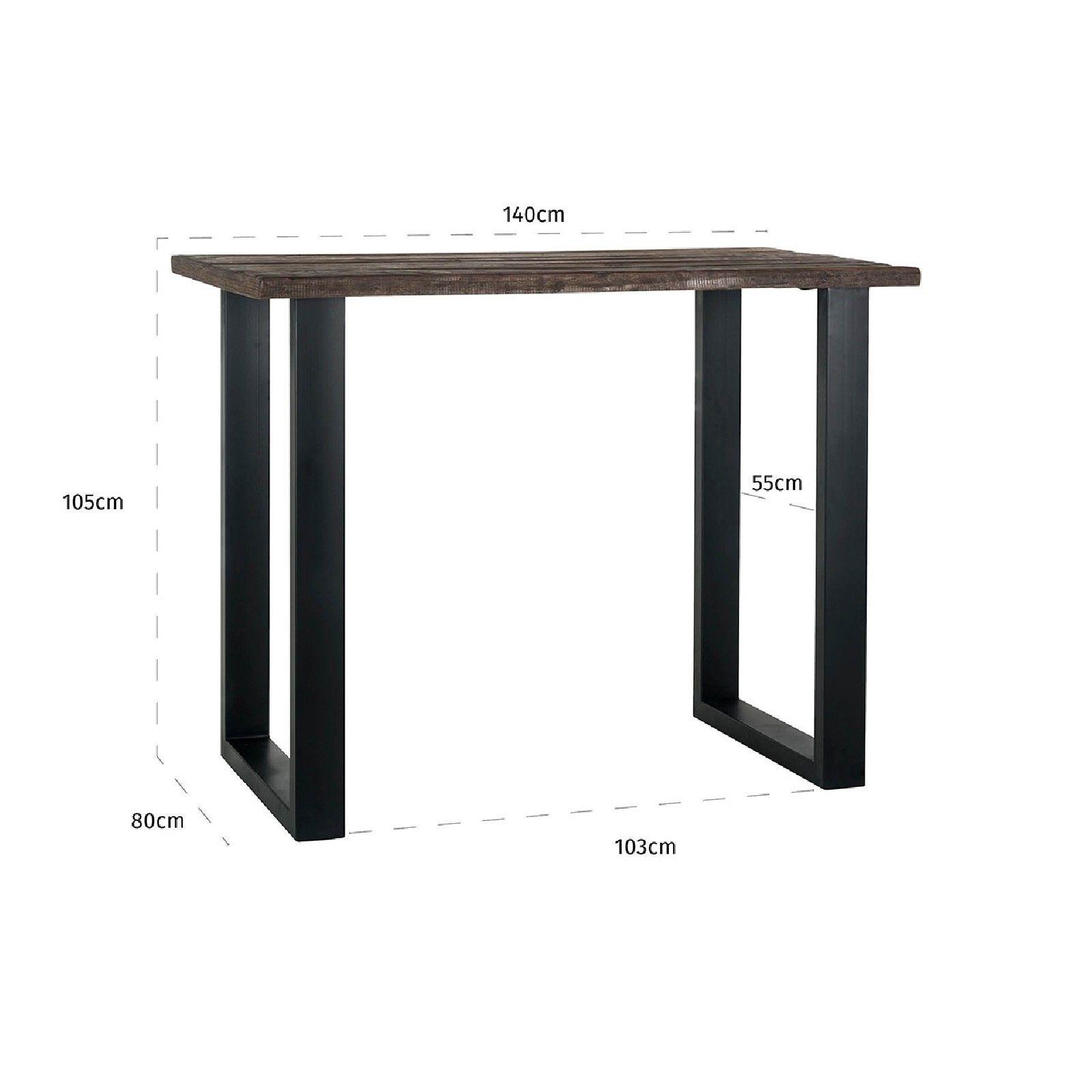 Table de bar Raffles 140x80, bois recyclé Meuble Déco Tendance - 247