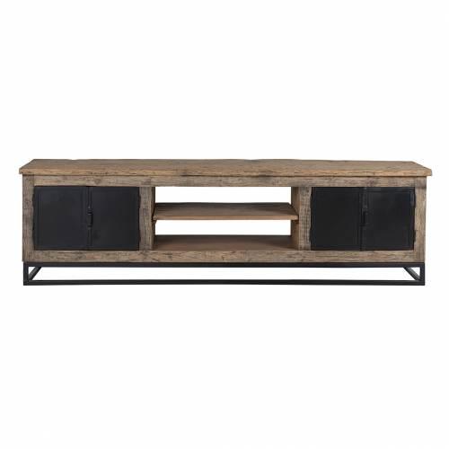 Meuble TV Raffles 4-portes, Recyceld wood Meuble Déco Tendance - 220