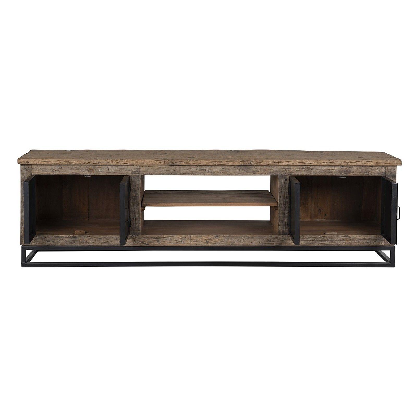 Meuble TV Raffles 4-portes, Recyceld wood Meuble Déco Tendance - 267
