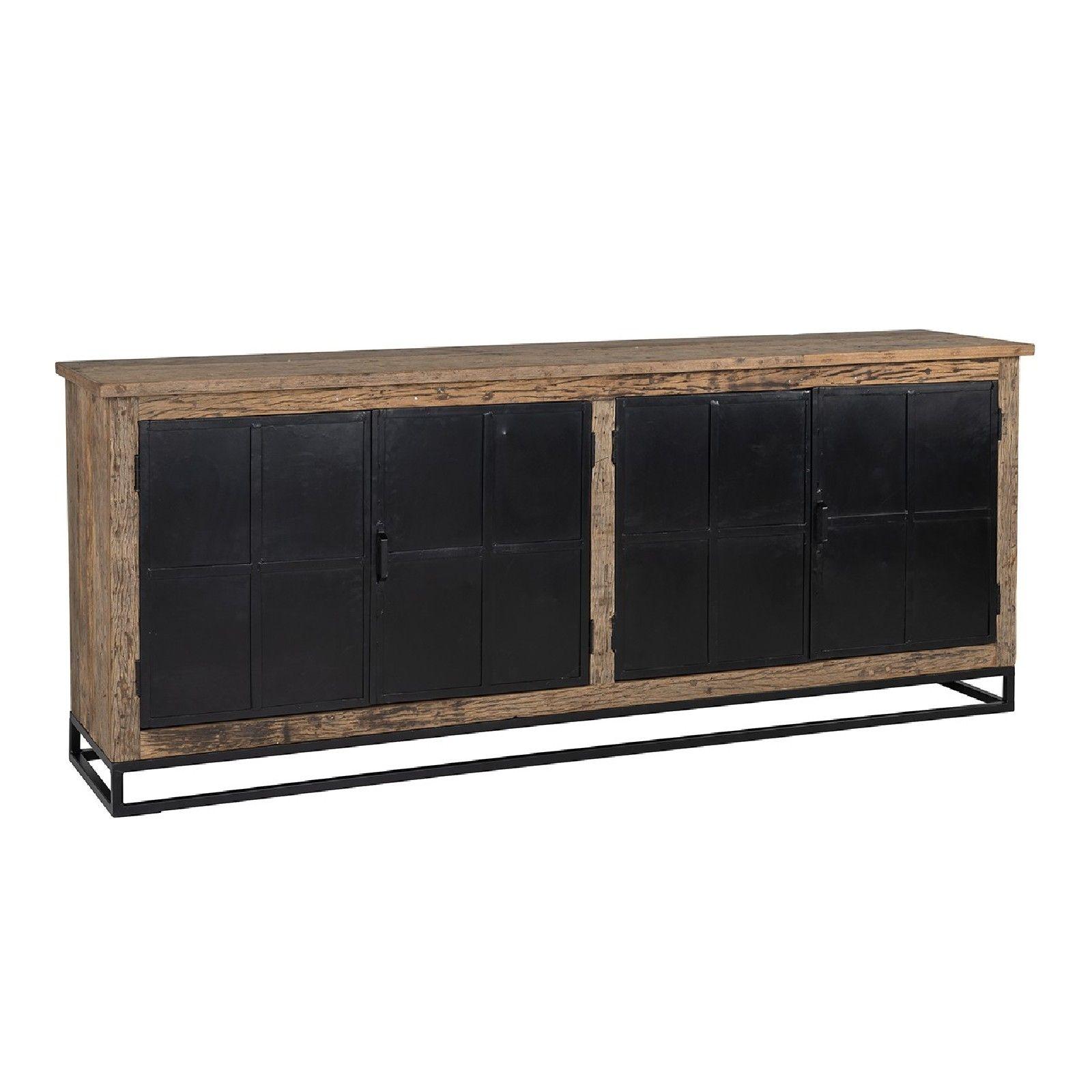 Bahut Raffles 4-portes, Recyceld wood Meuble Déco Tendance - 68