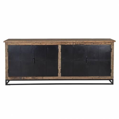 Bahut Raffles 4-portes, Recyceld wood Meuble Déco Tendance - 165