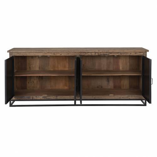 Bahut Raffles 4-portes, Recyceld wood Meuble Déco Tendance - 248