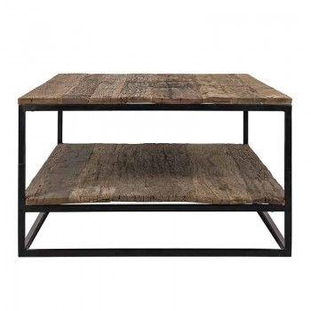 Table de salon Raffles, Recyceld wood Tables basses rectangulaires - 85