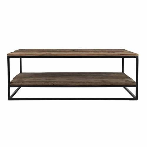 Table de salon Raffles, Recyceld wood Tables basses rectangulaires - 158