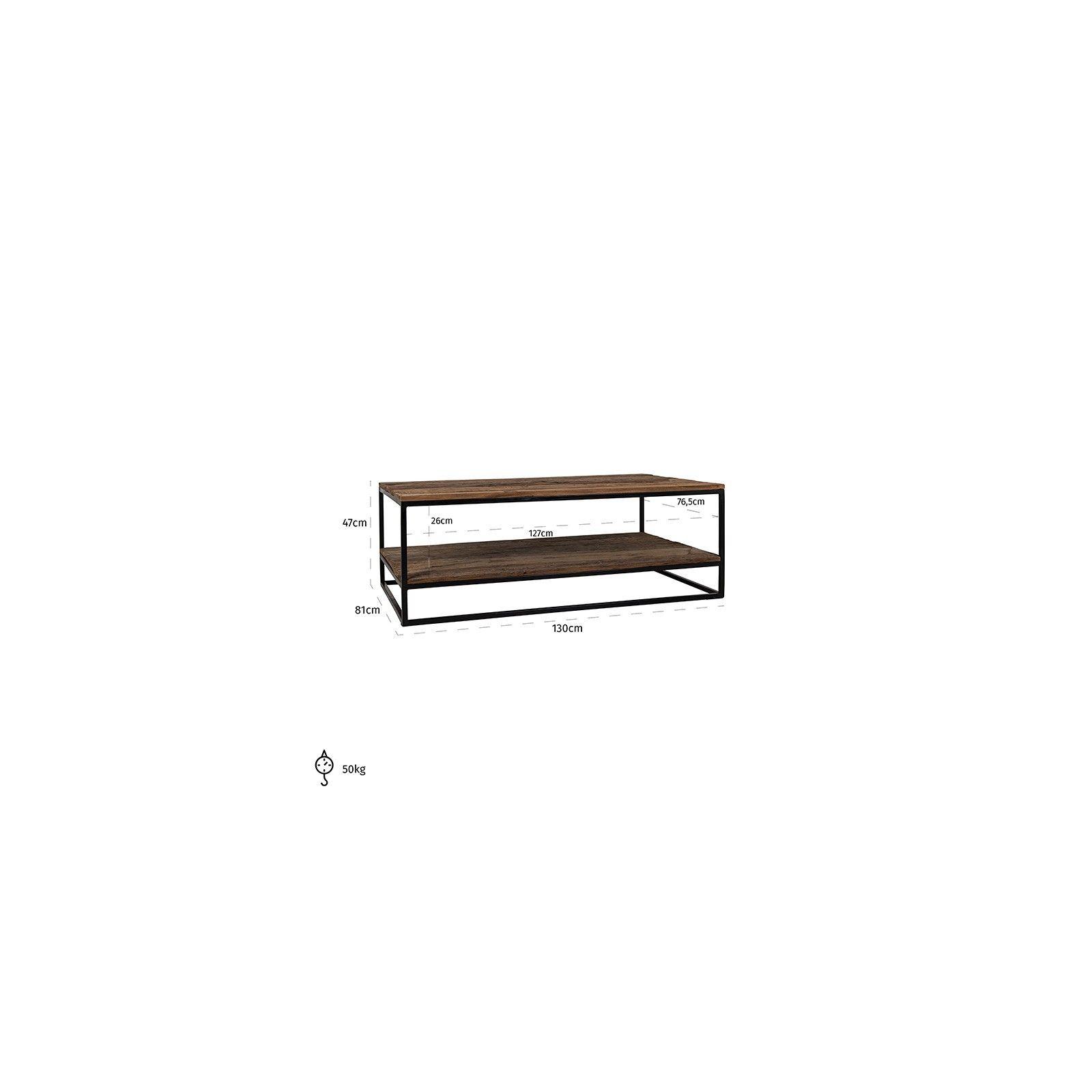 Table de salon Raffles, Recyceld wood Tables basses rectangulaires - 213