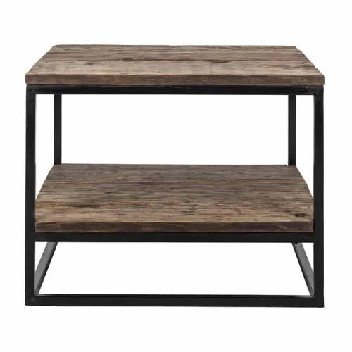 Table d'angle Raffles, Recyceld wood Meuble Déco Tendance - 125
