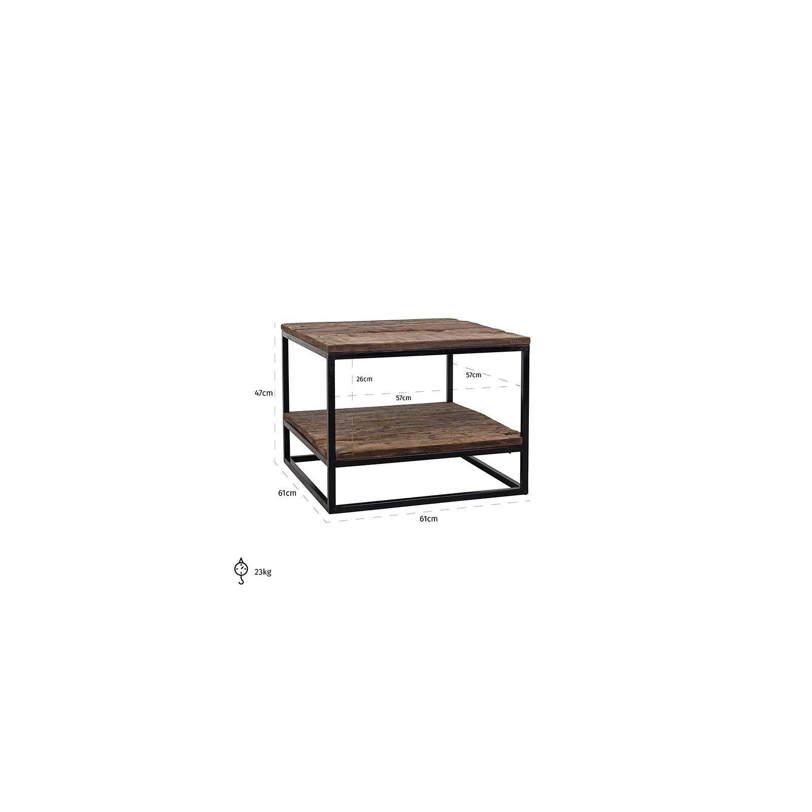 Table d'angle Raffles, Recyceld wood Meuble Déco Tendance - 190