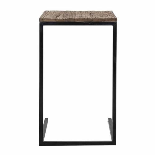 Table d'appoint Raffles, Recyceld wood Meuble Déco Tendance - 162
