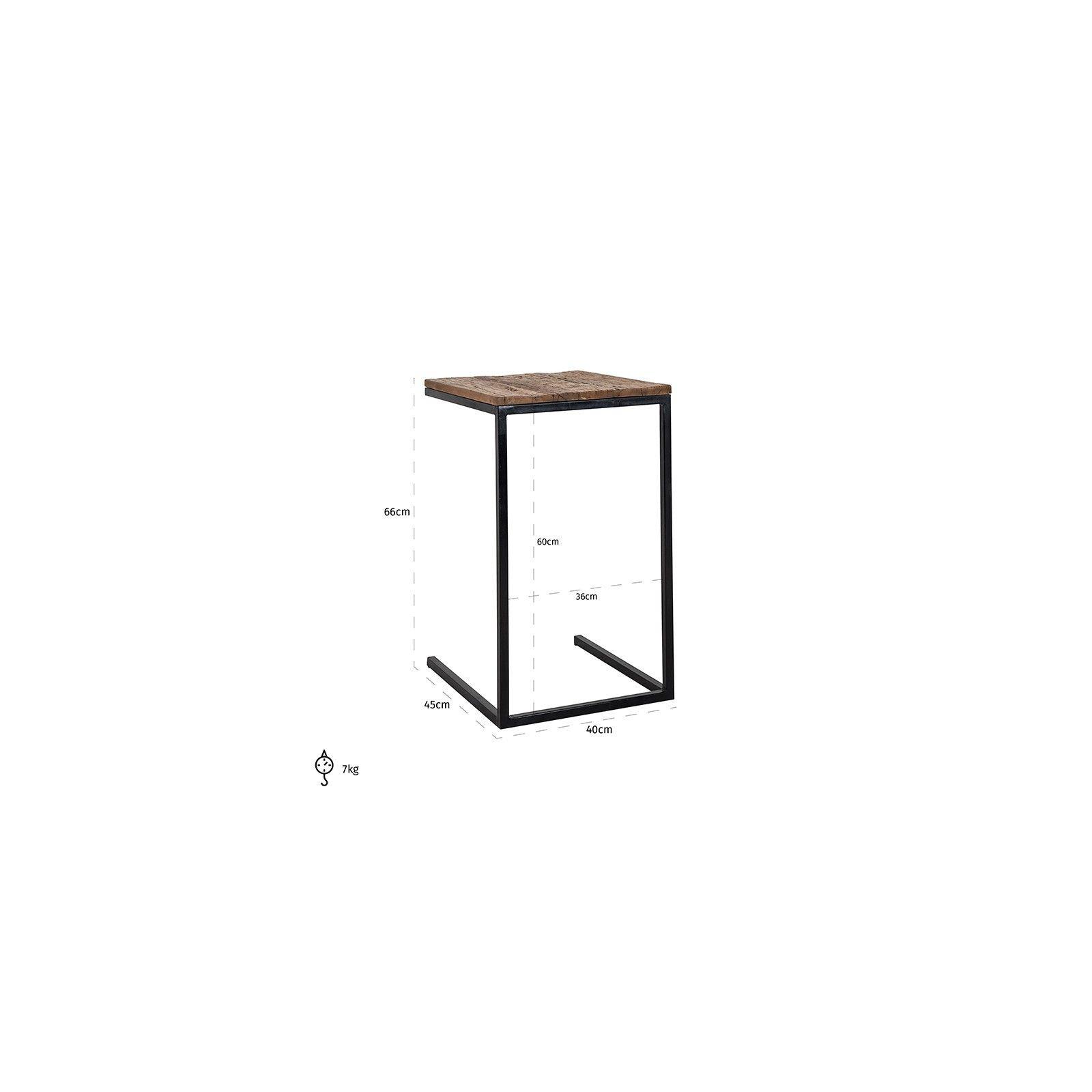 Table d'appoint Raffles, Recyceld wood Meuble Déco Tendance - 216