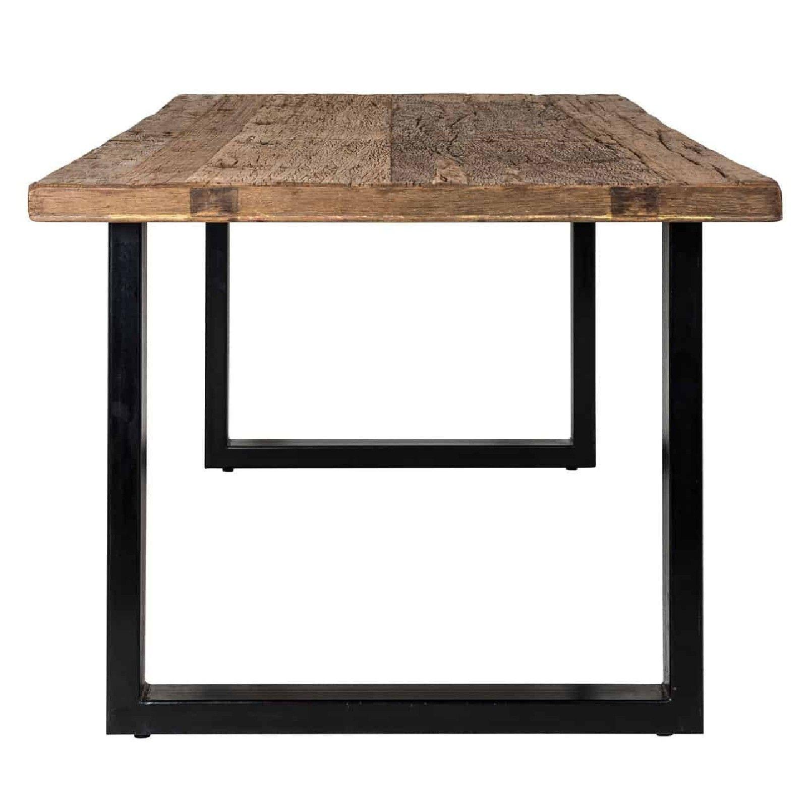 Table à dîner Raffles 200, Recyceld wood Meuble Déco Tendance - 130