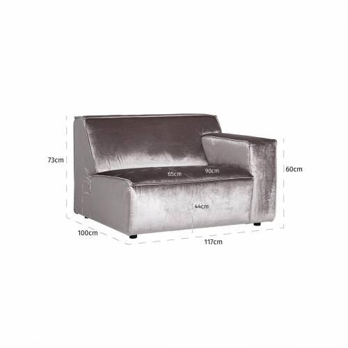Module élément dossier 1,5 places pour canapé d'angle Devon Canapés d'angle - 237