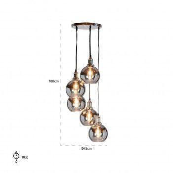 Lampe suspendue CamdonE27 / 60 watt (5 pieces) Suspensions et plafonniers - 32