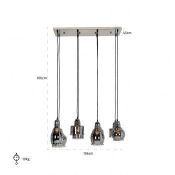 Lampe suspendue Bryon avec 8 lampes differentesE27 / 60 watt (8 pieces) Suspensions et plafonniers - 23
