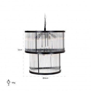 Lampe suspendue AshtonE14 / 40 watt (9 pieces) Suspensions et plafonniers - 26