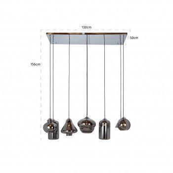 Lampe suspendue Crosley avec 8 lampes differentesE27 / 40 watt (8 pieces) Suspensions et plafonniers - 21