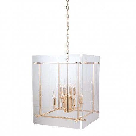 Lampe suspendue Chess avec de l'acryliqueE14 / 25 watts (8 pieces)