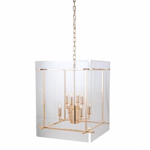 Lampe suspendue Chess avec de l'acryliqueE14 / 25 watts (8 pieces) Suspensions et plafonniers - 10