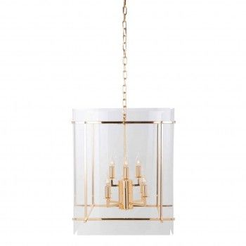 Lampe suspendue Chess avec de l'acryliqueE14 / 25 watts (8 pieces) Suspensions et plafonniers - 16