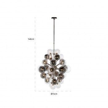 Lampe suspendue BenzoG9 (max 1,9 largeur / 38 pieces) Suspensions et plafonniers - 56