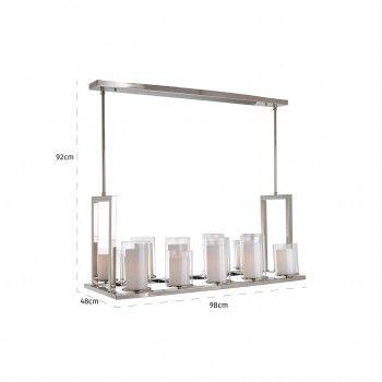 Lampe suspendue Naila avec 14 bougeoirsE27 / 40 watt (14 pieces) Suspensions et plafonniers - 50