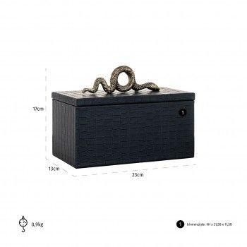 Boîte à bijoux Charly snake black Boîtes décoratives - 35