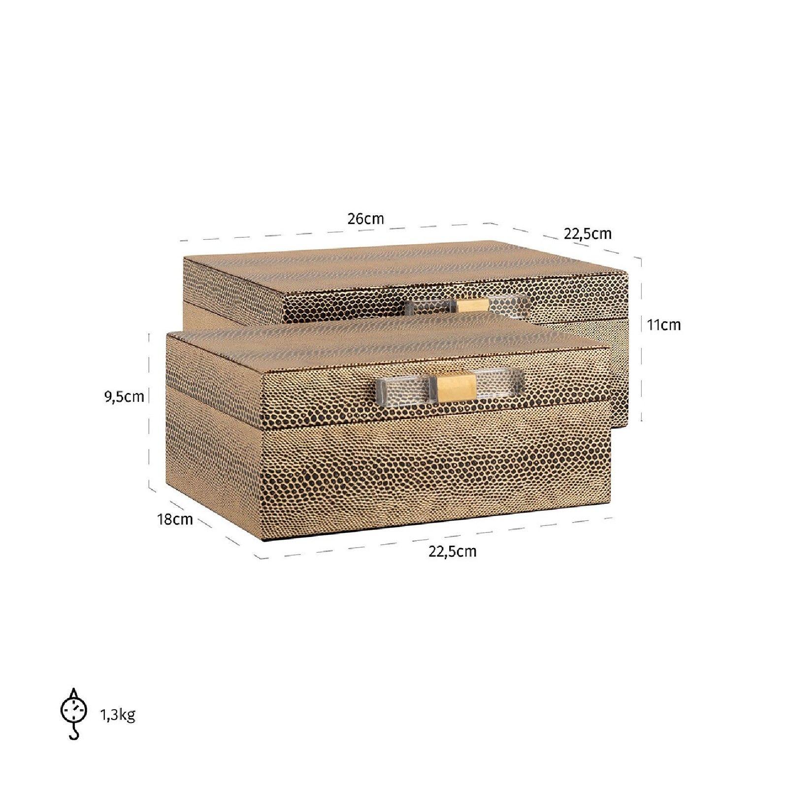 Boîte à bijoux Balou set de 2 Boîtes décoratives - 33