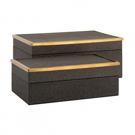 Boîte à bijoux Betoul set de 2, un petit et un grand