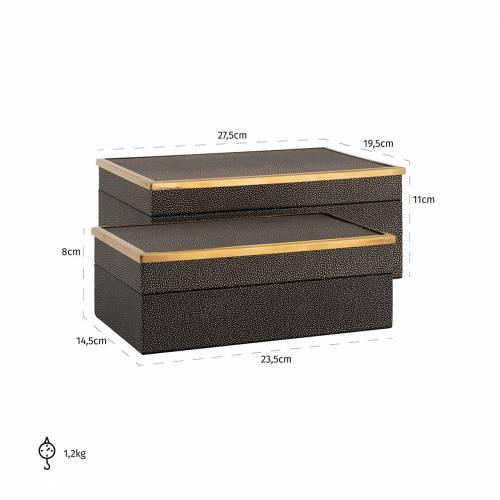 Boîte à bijoux Betoul set de 2, un petit et un grand Boîtes décoratives - 40