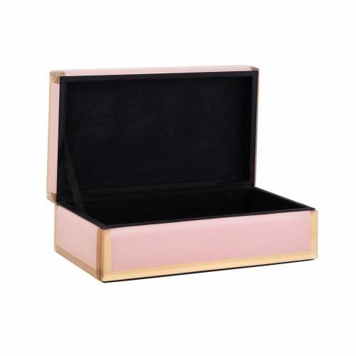 Boîte à bijoux Jaylyn rose/or Boîtes décoratives - 38