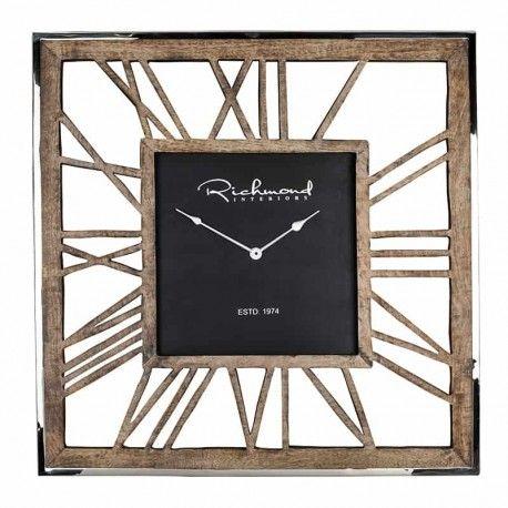 Horloge Everson metal square