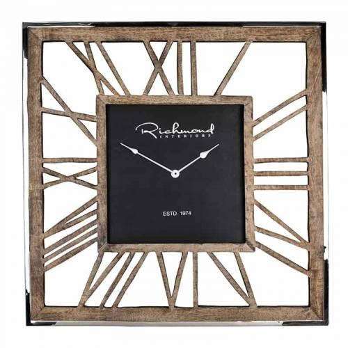 Horloge Everson metal square Horloges murales - 6