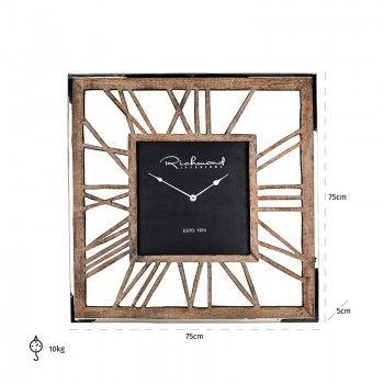 Horloge Everson metal square Horloges murales - 22