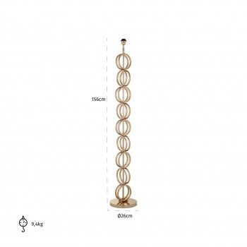 Lampdaire Adyson goldE27 / 60 watt Lampadaires - 48