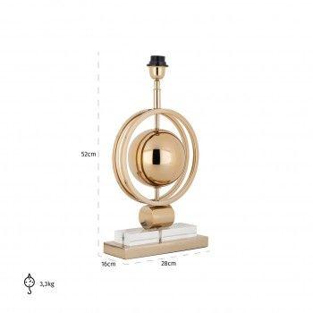 Lampe de table Averil goldE27 / 60 watt Lampes - 101