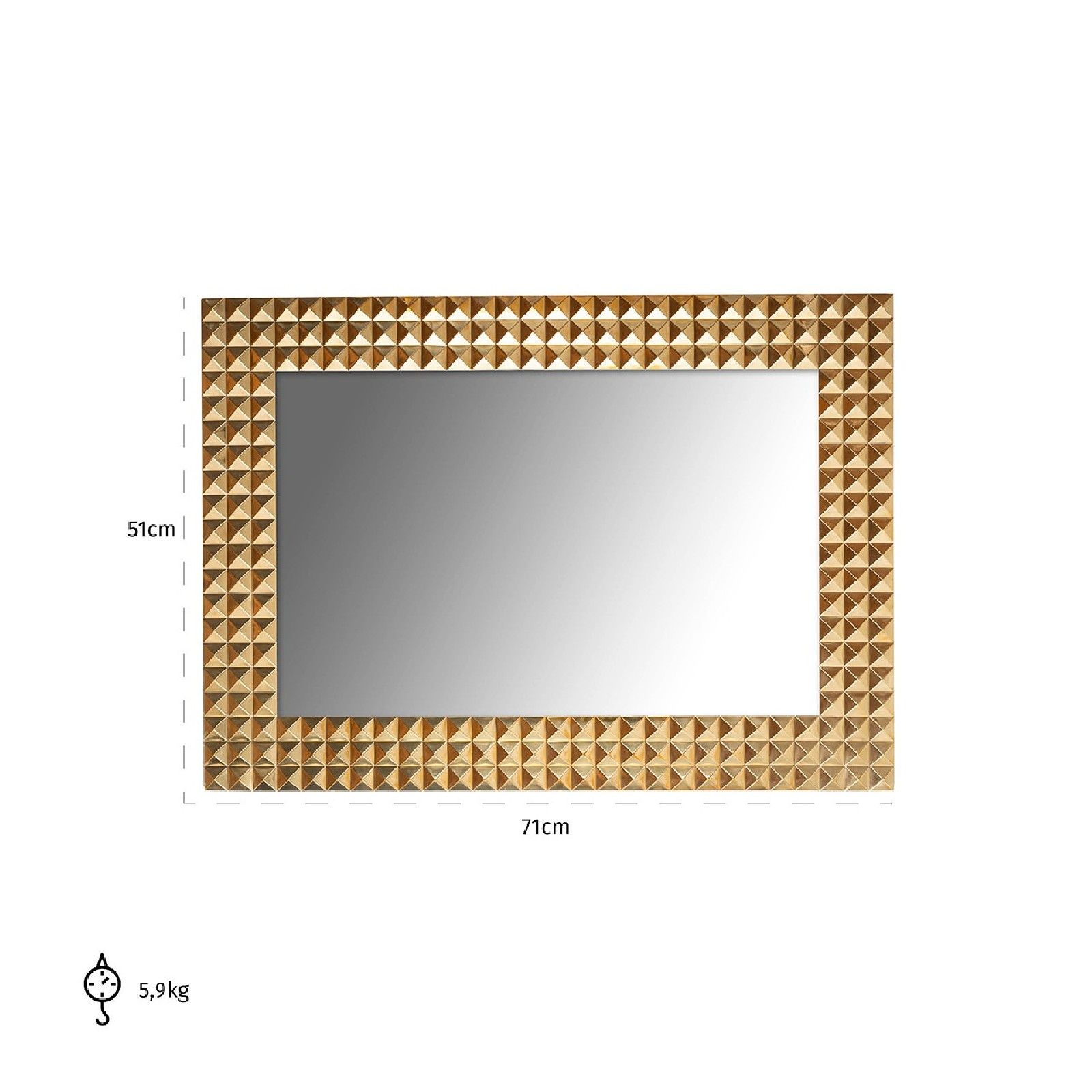 Miroir Caster gold Miroirs décoratifs - 2