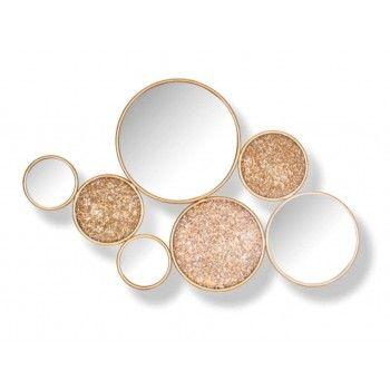 Miroir Isaiha avec 4 miroirs rond Miroirs décoratifs - 18