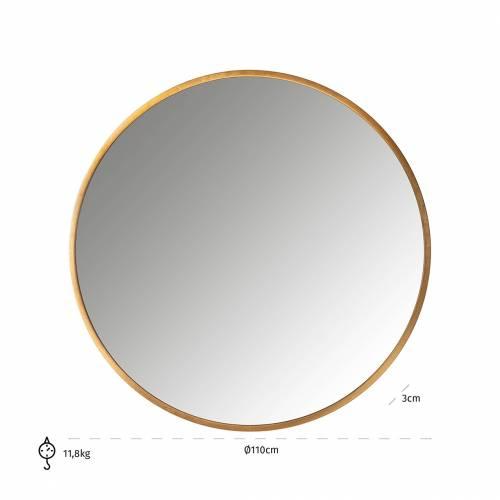 Miroir Maevy doré 110Ø Miroirs décoratifs - 25
