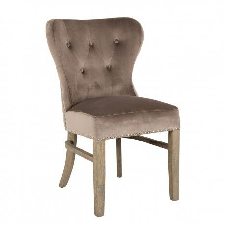 Chaise Genesis fire retardant, Velvet TaupeSilver nails and ring