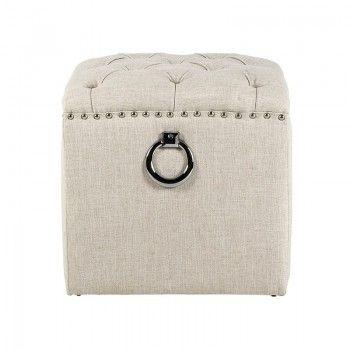 Pouf BrookeSilver nails and ring Meuble Déco Tendance - 247