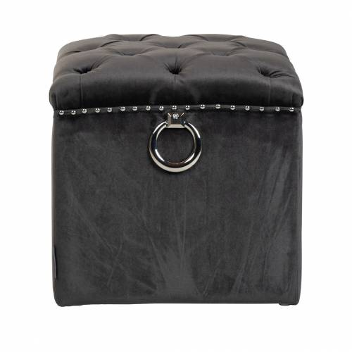 Pouf BrookeSilver nails and ring Meuble Déco Tendance - 331